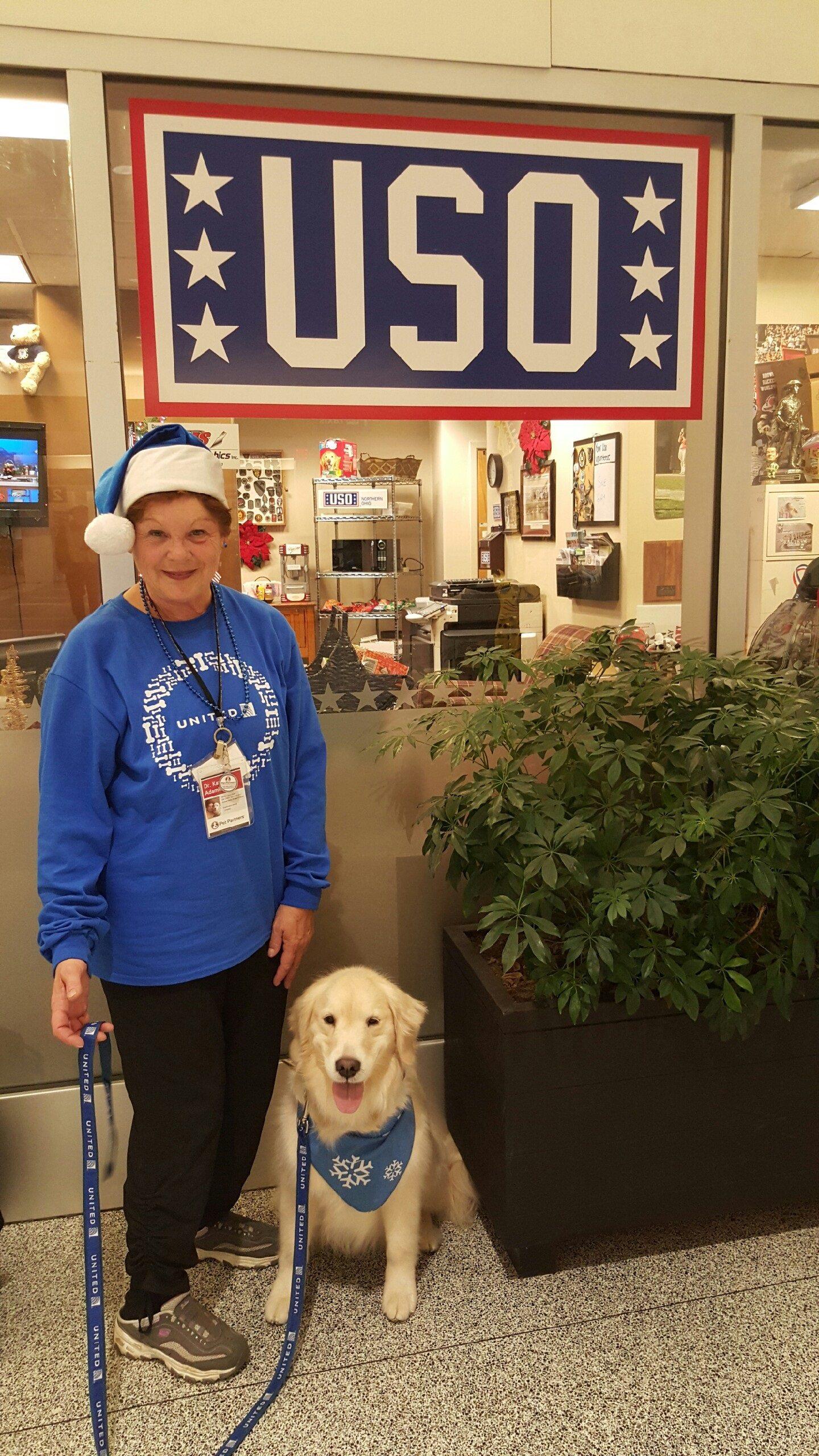 Kathy and Bridget at USO CLE