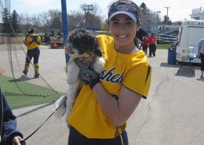Sophie w softball player