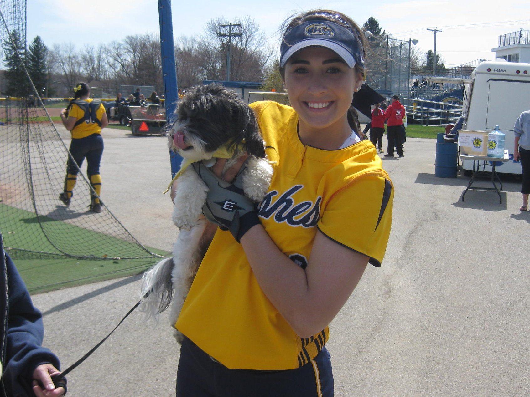 Sophie w softball player
